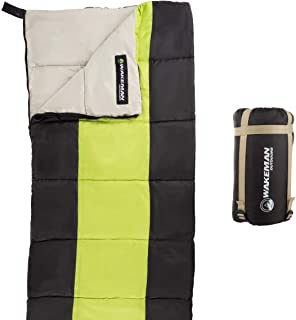 Wakeman Outdoors Kids Sleeping Bag-Lightweight, Carrying Bag with Compression Straps-for Camping, Backpacking, and Sleepov...