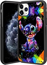 DISNEY COLLECTION Stitch Scrawl Tired Case for iPhone 11 Pro Max (2019) Shockproof Soft TPU Side and PC Back iPhone 11 Pro...