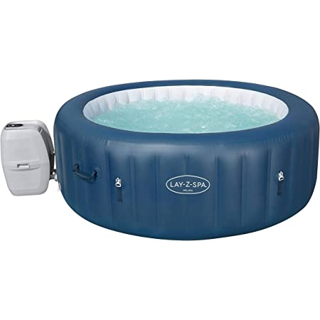 Bestway 54185e Saluspa Milan Airjet Plus Portable Round Inflatable Hot Tub Spa With Cover And Filter Pump Teal Garten