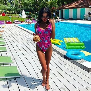 COOSUN Fenicotteri rosa modello Bikini Swimsuit laccetti sui fianchi bikini imbottito Swimwear Due pezzi costume da bagno