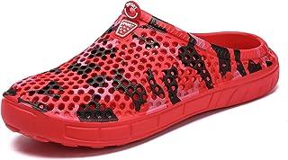 Unisex Mules Clogs Mesh Slip on Slippers Men Women Garden Shoes Beach Breathable Hole Shoes