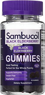 Sambucol Black Elderberry Dietary Supplement Gummies - 30 ct, Pack of 3