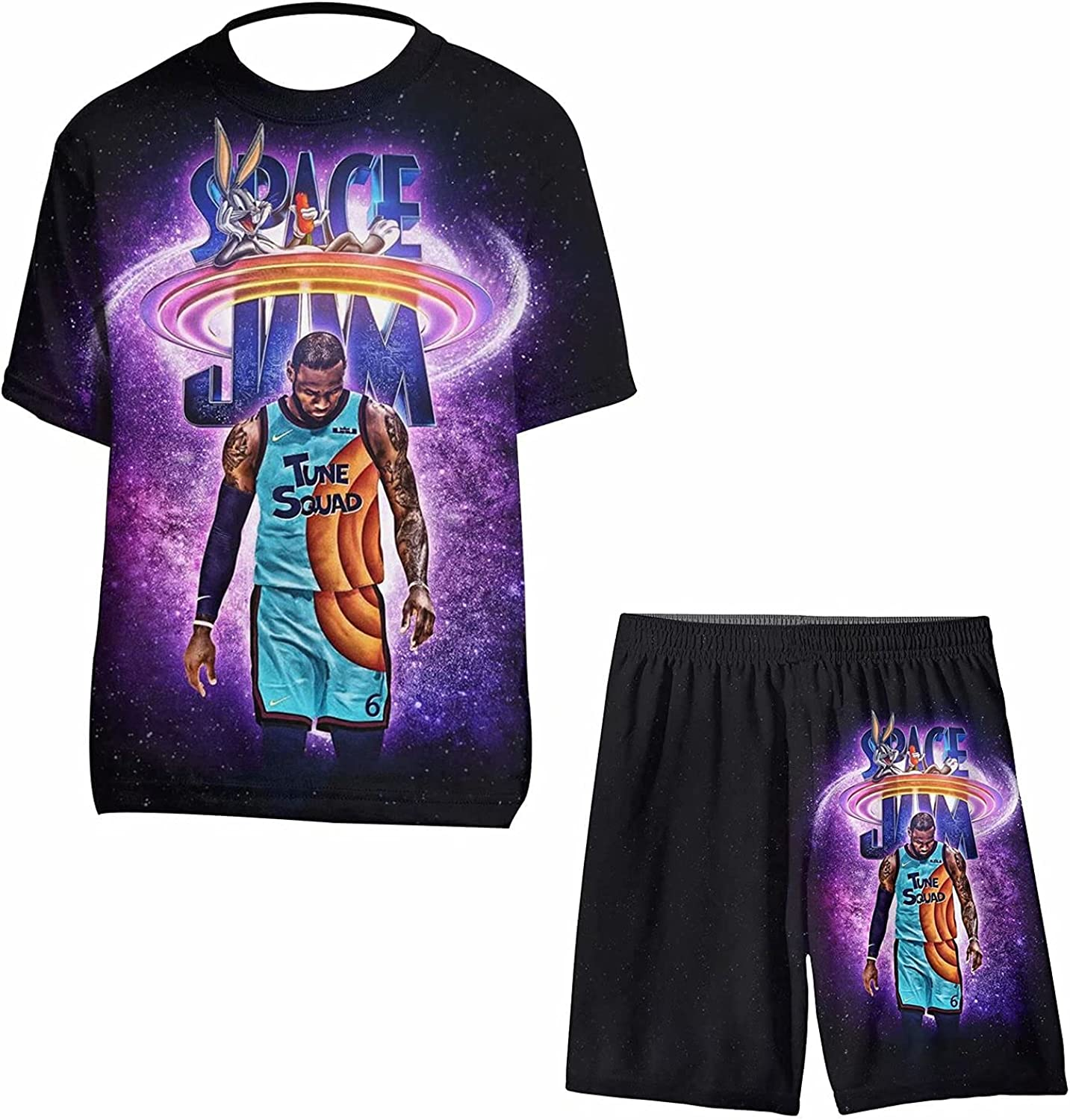 MINANTPE famous New Orleans Mall Shirt and Shorts 2 Outfit Athletic Clothes Set Piece