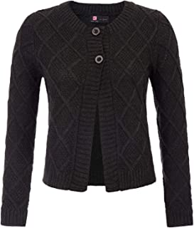 Womens Long Sleeve Cable Knit Cardigans Button Open Front Sweater Shrug Coat