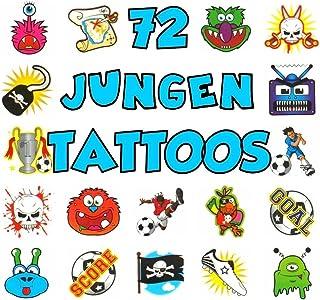 German Trendseller® - 72 x Tattoo für Jungen ┃ - Kinder