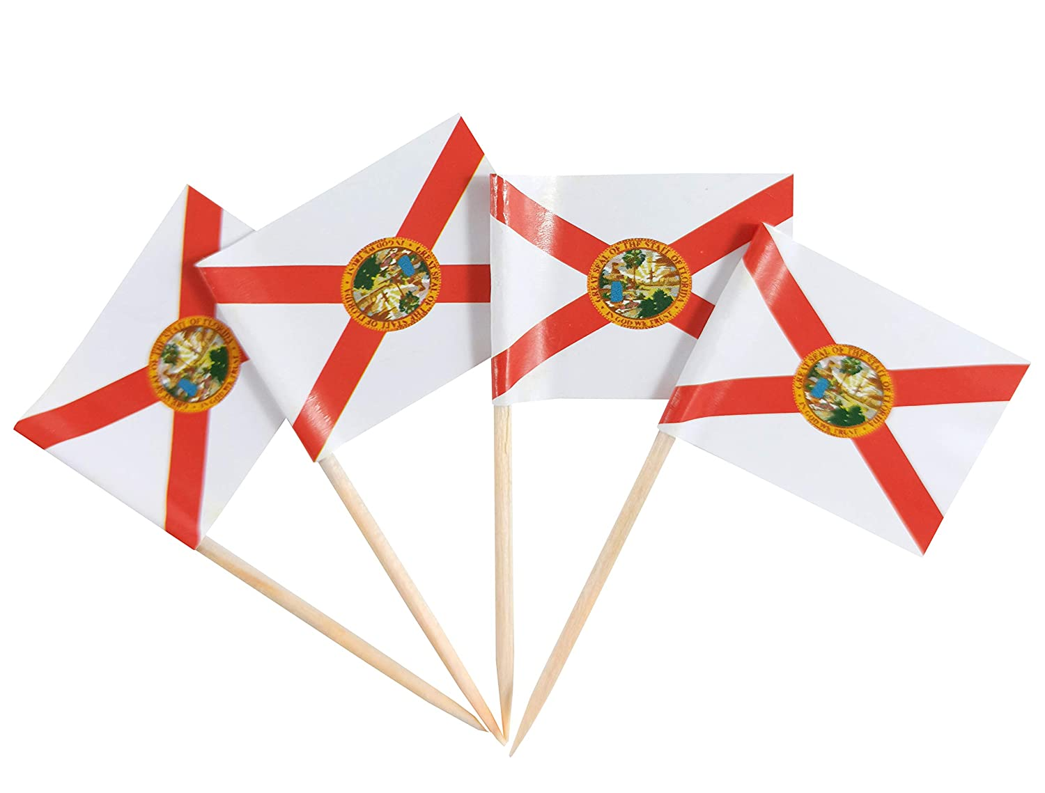 JBCD Florida Floridian Flags Toothpick Toppers Max 88% OFF Cupcake F Indefinitely 100 Pcs