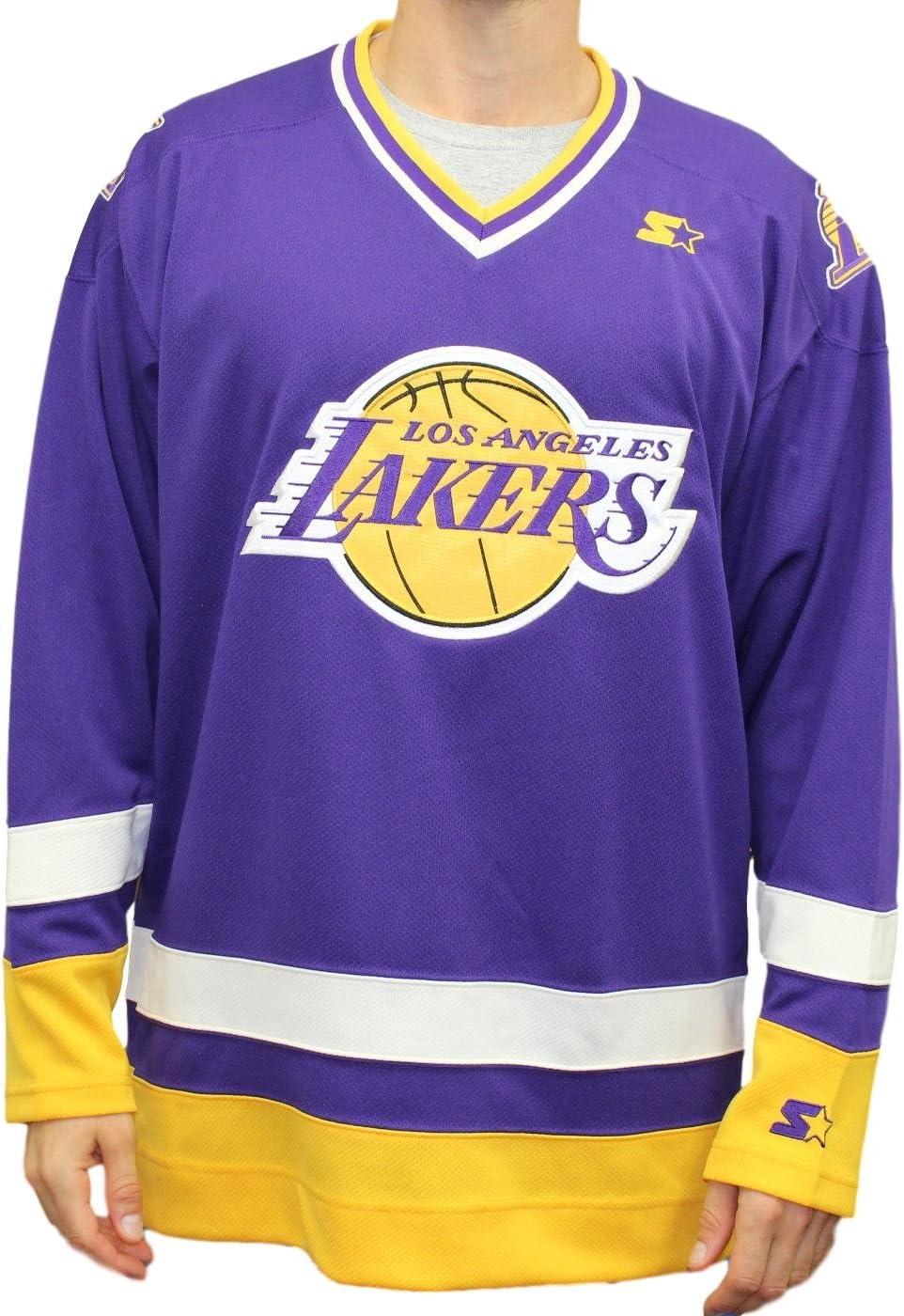 STARTER Los Angeles Lakers NBA Men's Legend Hockey Jersey : Amazon ...