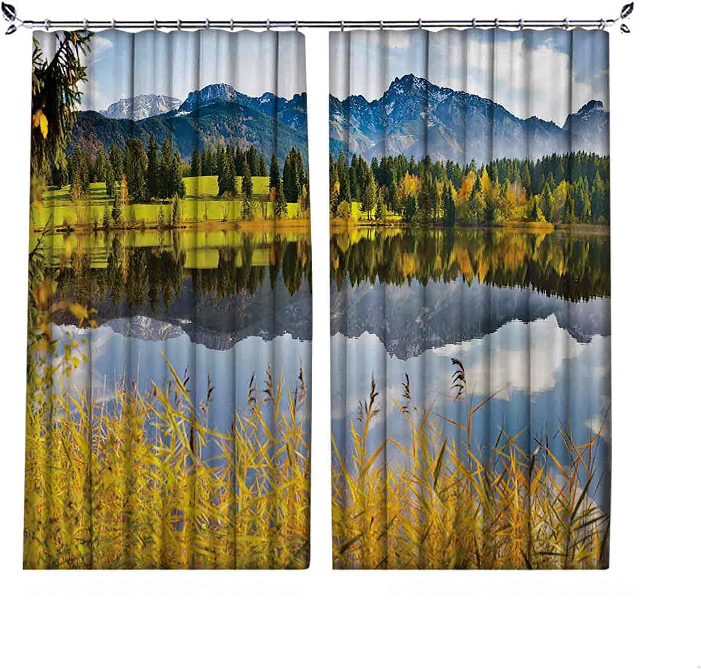 90% Inexpensive Blackout Nature Curtains Pastoral by Th Scenery Special sale item Countryside