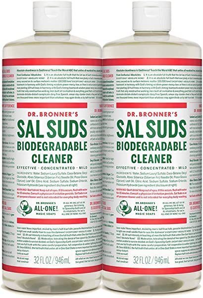 Dr Bronner S Sal Suds Biodegradable Cleaner 32oz 2 Pack