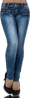 Dames jeans broek heupbroek damesjeans heupjeans buisjeans buis broek buis L851