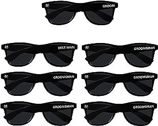 Bachelor Party Supplies 7pcs Weddings Sunglasses for Groom, Best Man, Groomsmen