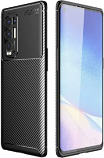 Soosos Case for OPPO Reno5 Pro Plus Case Carbon Fiber Ultra thin TPU Soft Silicone Shockproof Anti-fall Cell phone Protect...