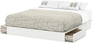 South Shore Step One Platform, King 80-in, Pure White