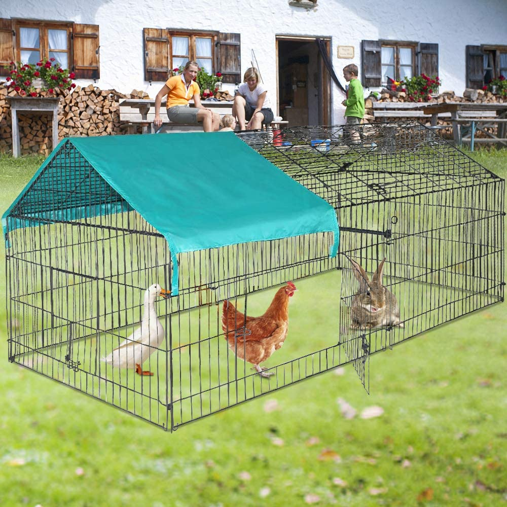Chicken Coop Rabbit Minneapolis Mall Cage Pet Meta Outlet sale feature Playpen Large Portable Outdoor