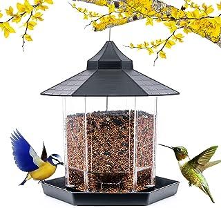 Bird Feeders for Outside, Bird Feeders Squirrel Proof for Outside, Wild Bird Feeders Large Capacity for Garden Yard Decora...