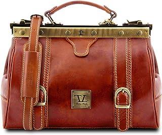 Tuscany Leather Monalisa Borsa medico in pelle con fibbie frontali Miele