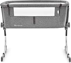 Kinderkraft Bedside Cot UNO 2in1 Crib Travel Cot Co-Sleeping Bed Aluminum Folded Wheels Height NAD Slope Adjustable for Newborn Toddler with Accessories Bag Matttress Safety Certificate 1130