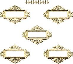 Cabinet Door Handles 5 قطع العتيقة منحوتة الملحقات تسمية سحب الإطار اسم ملف بطاقة حامل للأثاث مجلس الوزراء درج مربع حالة ص...