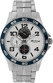Titan Workwear Men's Chronograph Watch - Quartz, Water Resistant, Gold/Stainless Steel/Leather Strap