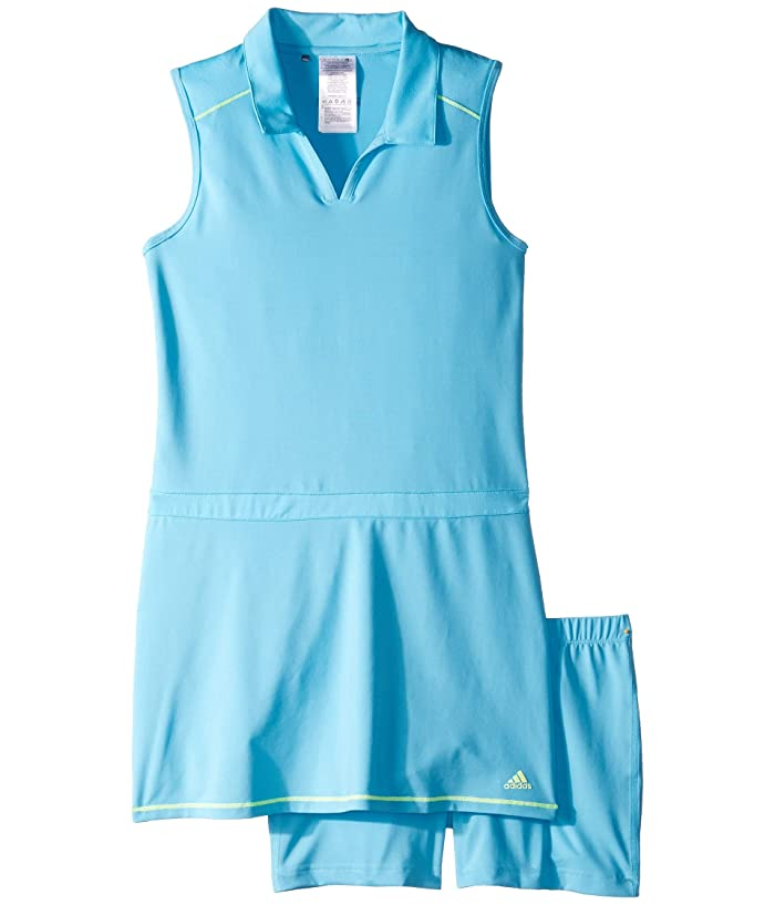 adidas Golf Kids  Novelty Golf Dress (Big Kids) (Bright Cyan) Girls Dress