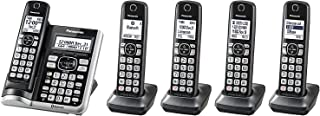 Panasonic KX-TG785SK Link2Cell BluetoothCordless Phone with Voice Assist and Answering Machine - 5 Handsets (Renewed)