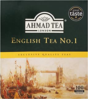 Ahmad Tea English Tea No.1 Tagged Teabags, 100 Count