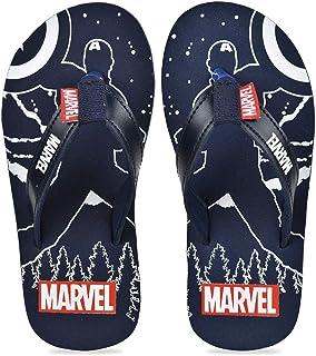 Avengers by toothless Marvel Kids Boys Navy Flip-Flops Slipper