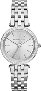 Michael Kors Women's Beige Dial Stainless Steel Band Watch - MK3364