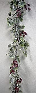 JMB Christmas Snow Covered Ivy Vine Wreaths, Garland, Candle Ring or Hurricane Centerpiece Buyer's Choice of Item and Size (72