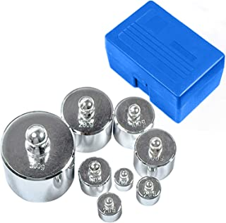 HFS (R) Scale Balance Calibration Weight Set - 10-1000g 8Pc Set With Case (8pcs : 10g,20g,20g,50g,100g,100g,200g,500g) 8pcs is 1000Gram total
