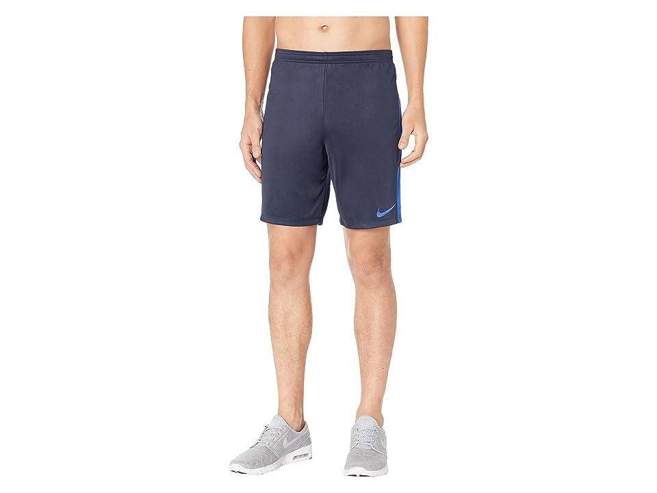 Nike Dry Academy Soccer Short (Obsidian/Hyper Royal/Hyper Royal) Men