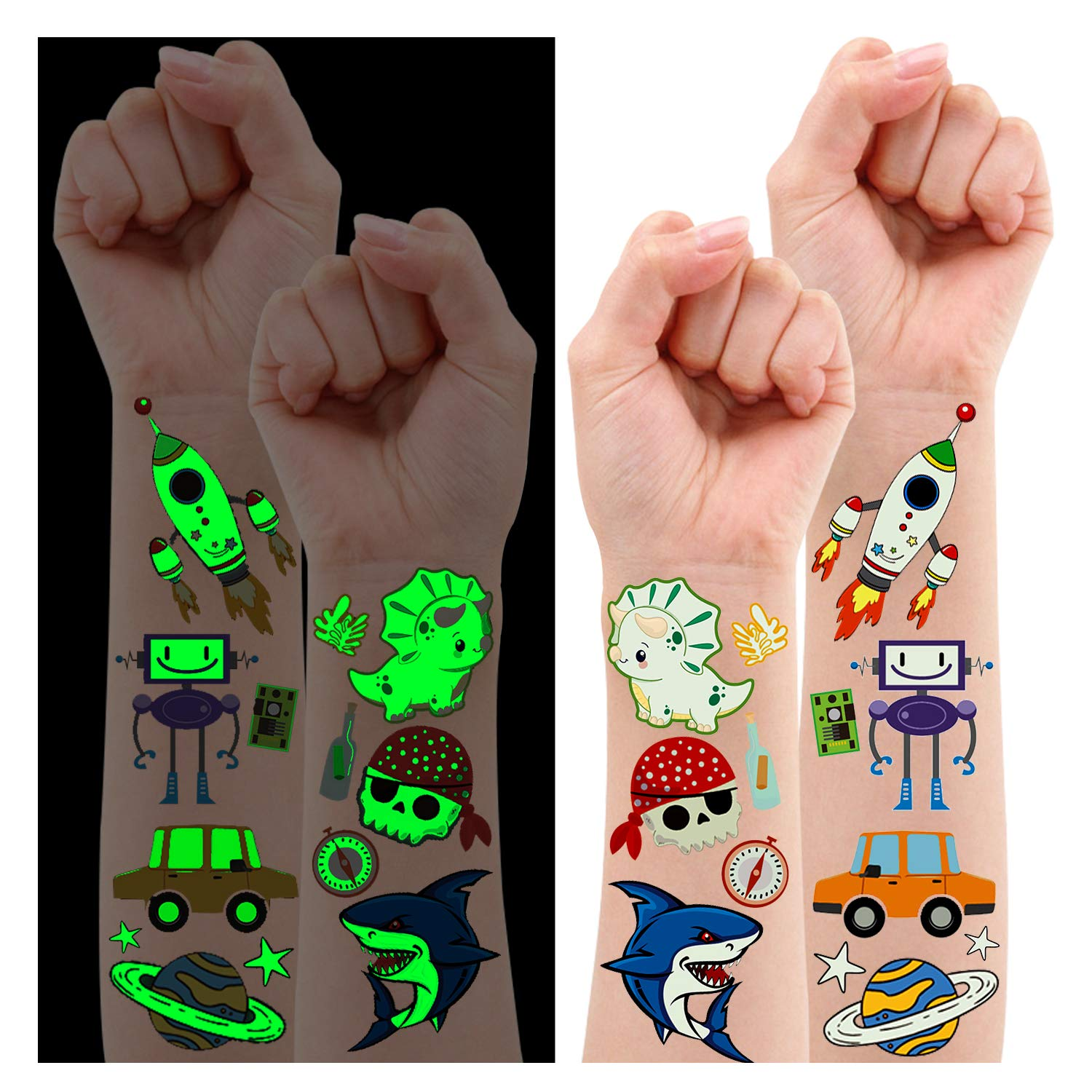Partywind 145 Courier shipping free Popular products Styles - Luminous for Tattoos Temporary Kids Boys