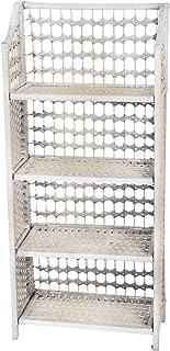 Oriental Furniture 43 Natural Fiber Shelving Unit - White