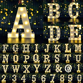 Dream Master Neon Light Sign LED Marquee Letter Lights Sign, Light Up Alphabet Letter for Home Party Wedding Decoration(White A)