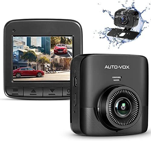 AUTO-VOX D5PRO Dual Dash Cam Front and Rear, 1520P Car Dashboard Camera Recorder, Built-in Super Capacitor,Two Ways I...