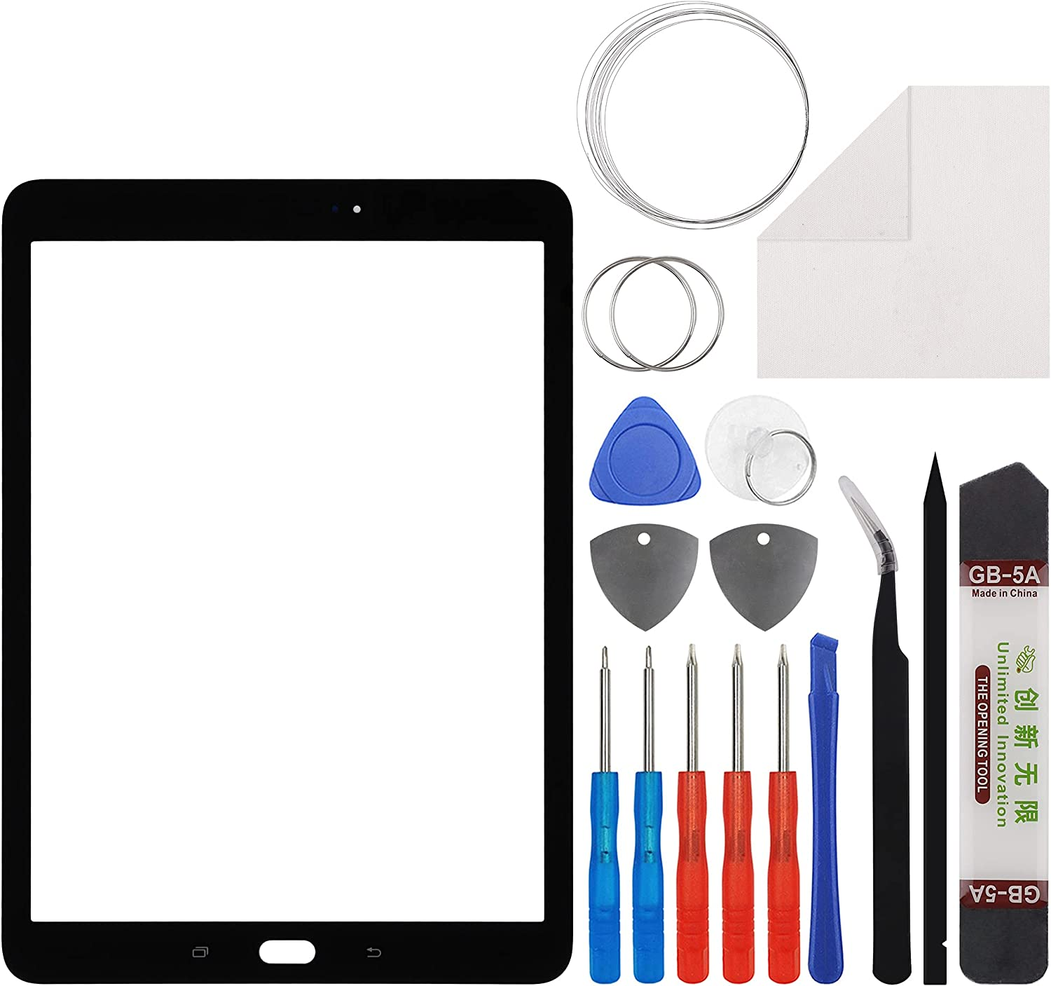Duotipa Front Glass Screen Replacement Compatible with Samsung Galaxy Tab S2 9.7,Front Outer Lens Glass Screen for Samsung Galaxy Tab S2 9.7 SM-T813, SM-T815Y, SM-T819Y 9.7