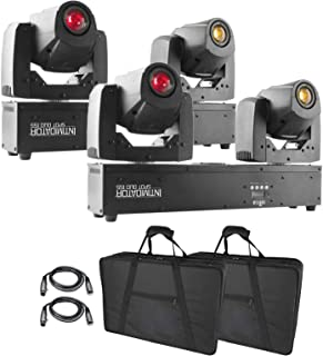 (2) Chauvet DJ Intimidator Spot Duo 155 Dual Compact LED Moving Heads Package
