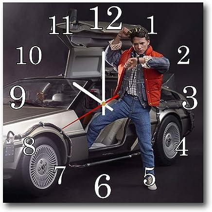 Back to the Future 11.8'' 壁時計( バック・トゥ・ザ・フューチャー )あなたの友人のための最高の贈り物。あなたの家のためのオリジナルデザイン