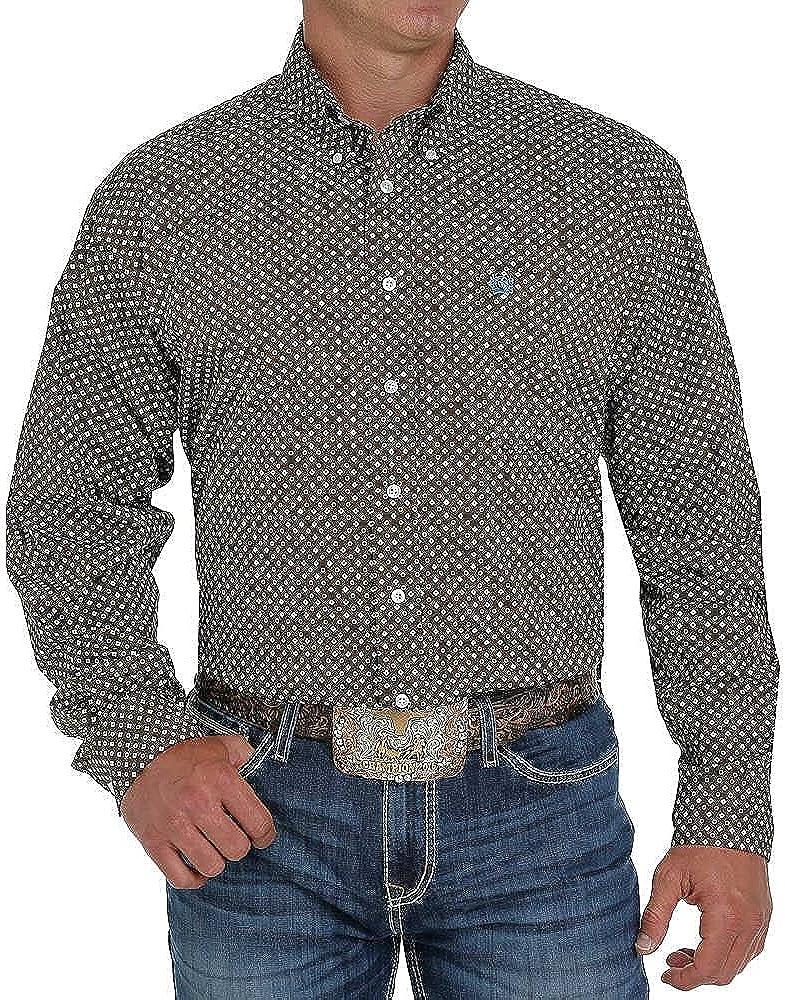 Cinch Men's Stretch Geo Print Long Sleeve Western Shirt