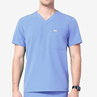 Leon Two-Pocket Scrub Top for Men – Tailored Fit, Super Soft Stretch, Anti-Wrinkle Medical Scrub Top