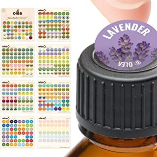 Illustrated Bottle Cap Labels for doTERRA Essential Oils • All 2018 doTERRA Single Oils Blends + Bonus Blank Stickers • 392 Essential Oil Sticker Labels For Aromatherapy Roller Storage Organizers