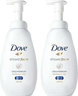 Dove Shower Foam - Foaming Body Wash - Deep Moisture - Net Wt. 13.5 FL OZ (400 mL) Per Bottle - Pack of 2 Bottles