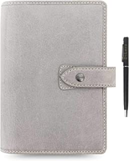 $99 » Filofax Malden Leather Organizer Agenda 2020 Diary Calendar Bundle with DiLoro Ballpoint Pen (Stone 2020 with Pen, Persona...