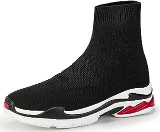 Newcolor Chaussons unisexes tendance à coupe haute, pour marche, sport, salle de gym, course