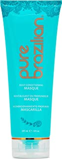 PURE BRAZILIAN Deep Conditioning Masque - Deep Conditioner Hair Treatment With Brazilian Keratin, Acai, and Arginine (8 Ounce / 236 Milliliter)