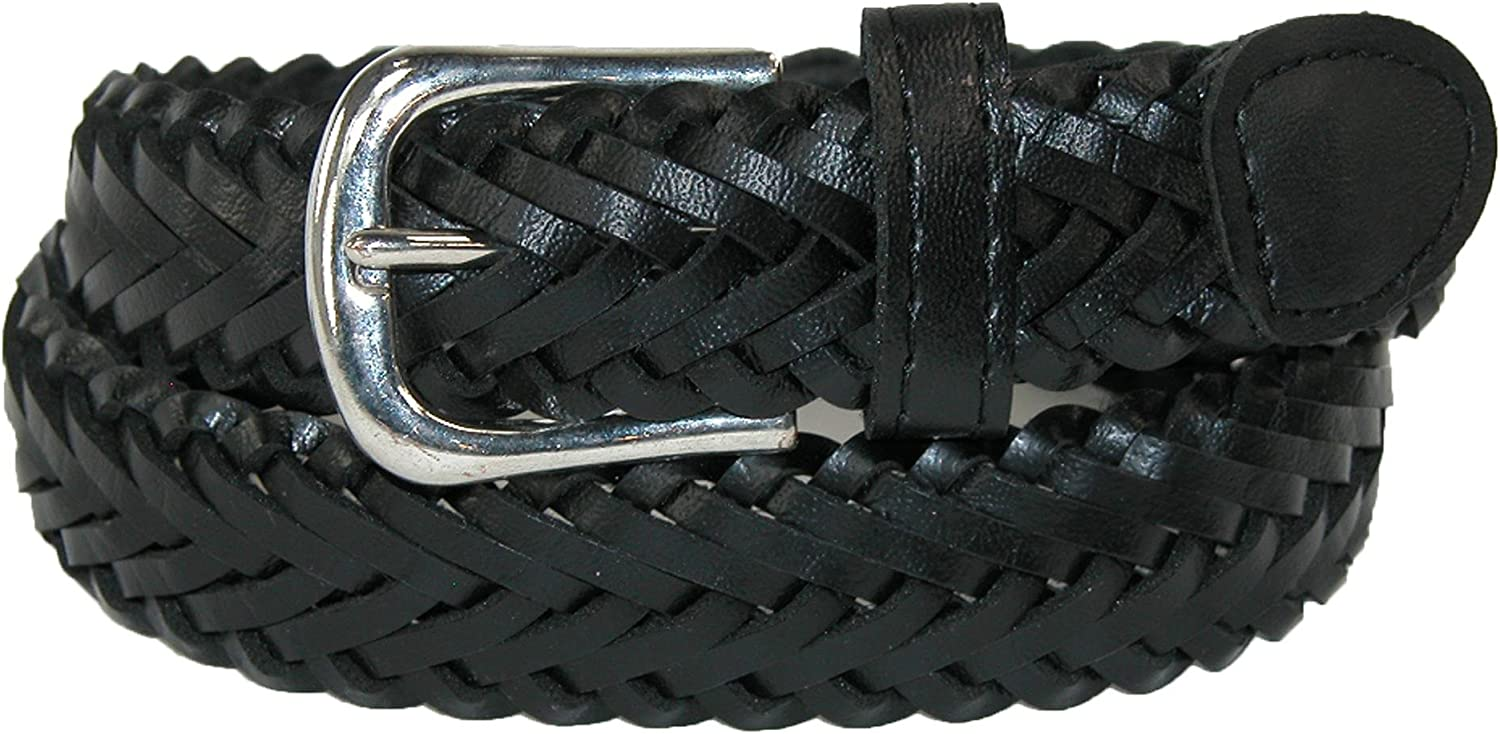 CTM Boys' San Diego Mall Leather Braided New color Dress 2 of Belt Pack