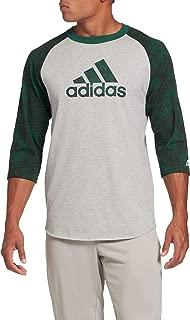 Men's Triple Stripe Printed ¾ Sleeve Baseball Shirt