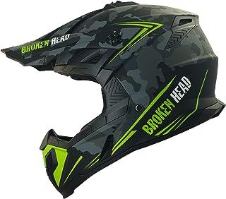 Broken Head Squadron Rebelution - Leichter Motocross & Enduro Helm - Camouflage Grau - Größe L 59-60 cm