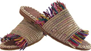 Sandali rafia naturale, Sandales Raffia naturelles, pantofole rafia, sandali per donna comodi, fatti a mano, pantofole di ...
