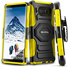 Galaxy Note 8 Case, Evocel [New Generation Series] Belt Clip Holster, Kickstand, Dual Layer for Samsung Galaxy Note 8 (SM-N950), Yellow (EVO-SAMNOTE8-XX15)